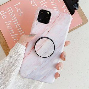NEW iPhone 12/11/Pro/Max/XR/8/SE Marble W/ Holder